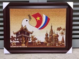 Quà tặng đối tác Tranh logo VN Thái Lan