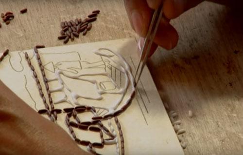Cách làm tranh gạo đơn giản và dễ hiểu nhất