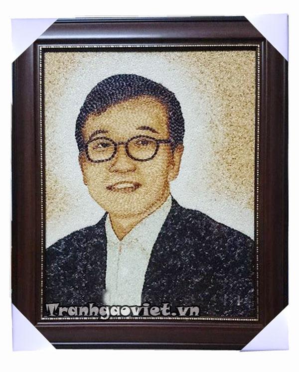 Quà tặng người Hàn Quốc- Tranh gạo chân dung