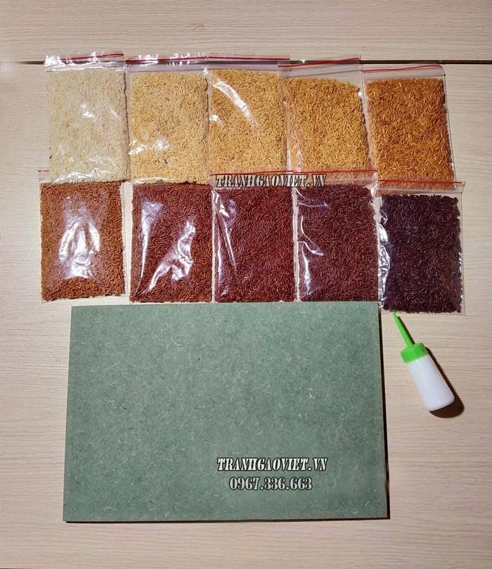 Nguyên liệu làm tranh gạo