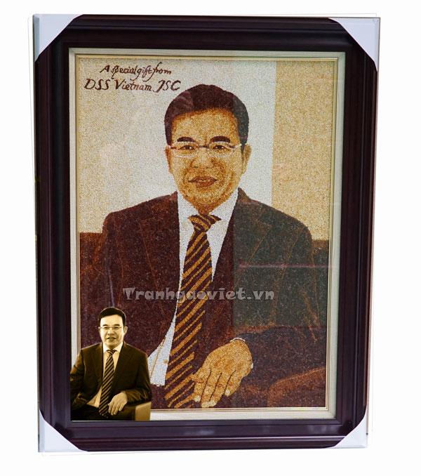 Tranh đặt của DSS Viet Nam làm quà tặng lãnh đạo