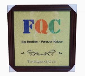 Tranh gào màu - Logo FQC Quà tặng đối tác