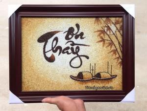 Quà tặng thầy| Tranh gạo Ơn Thầy