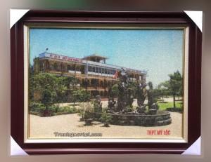Quà tặng nhà trường | Tranh gạo Trường THPT Mỹ Lộc