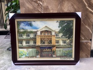 Tranh trường Tiểu học Nghĩa Tân