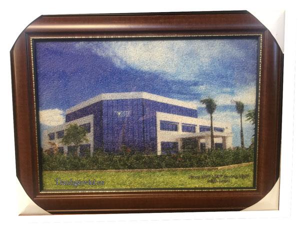 Tòa VSIP| Tranh gạo màu quà tặng